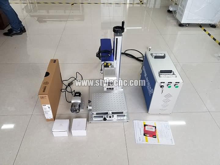 STJ-50F deep laser engraving machine with CCD camera