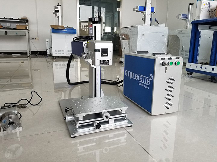 STJ-50F deep laser engraving machine with CCD camera delivery to the USA