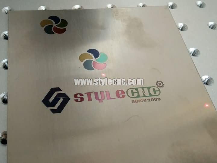 Metal signs marked by color fiber laser marker