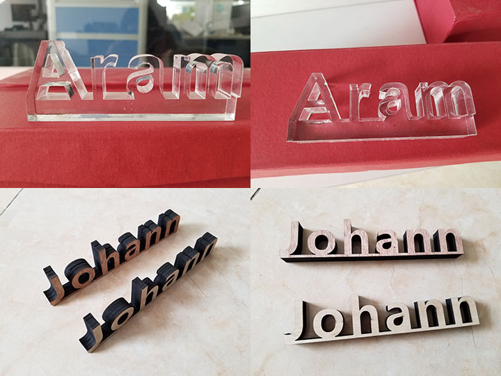 Acrylic cutting by mixed laser cutting machine