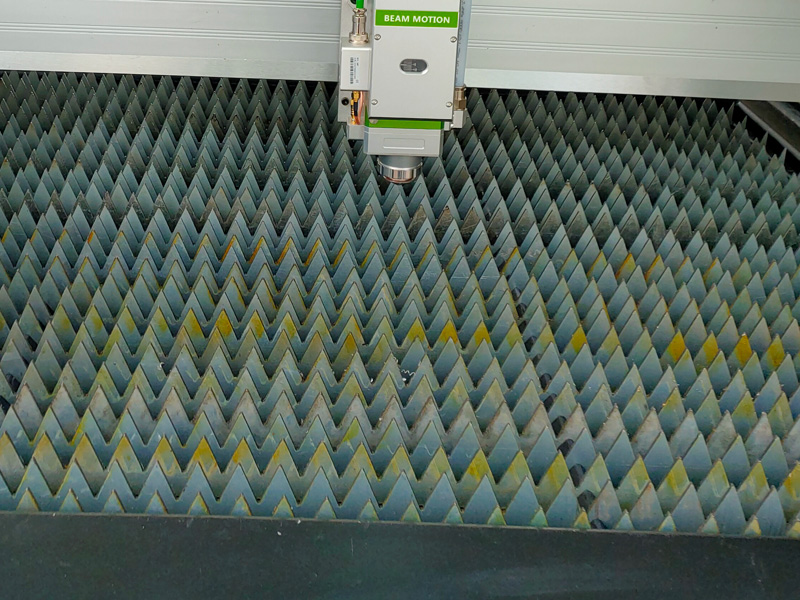 sawtooth table of small metal laser cutter