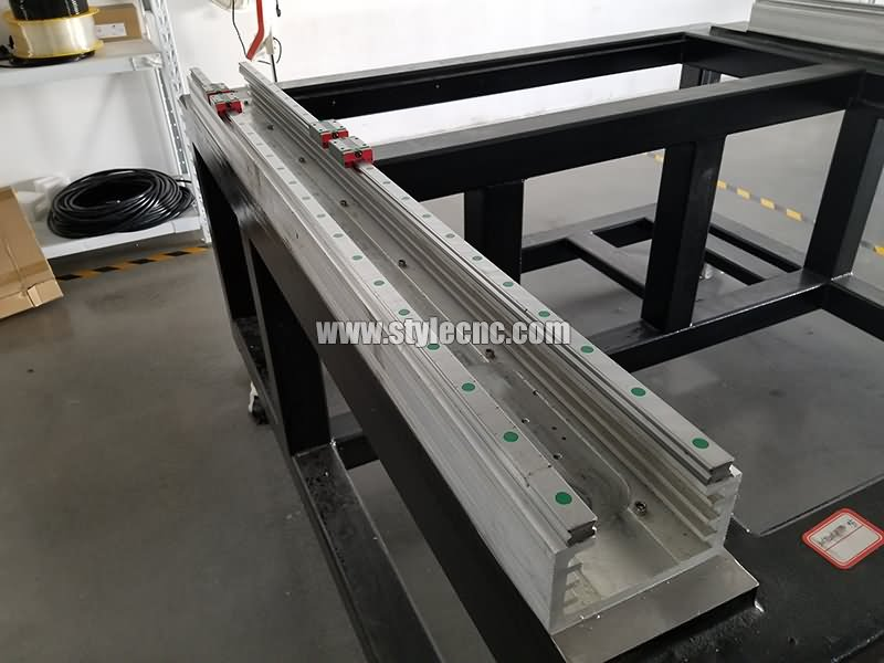 double rails of metal laser cutter 1390