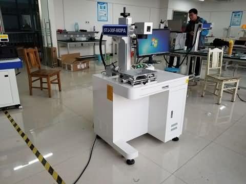 Desktop 30W MOPA fiber laser marker system delivery to Serbia