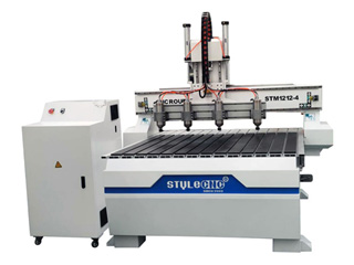 4 Heads CNC Woodworking Machine for 3D Carving