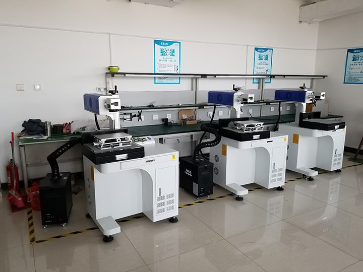 3 sets coconut laser engraving machine with CO2 galvo laser head delivered to America