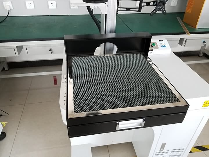 coconut laser marking machine honeycomb table