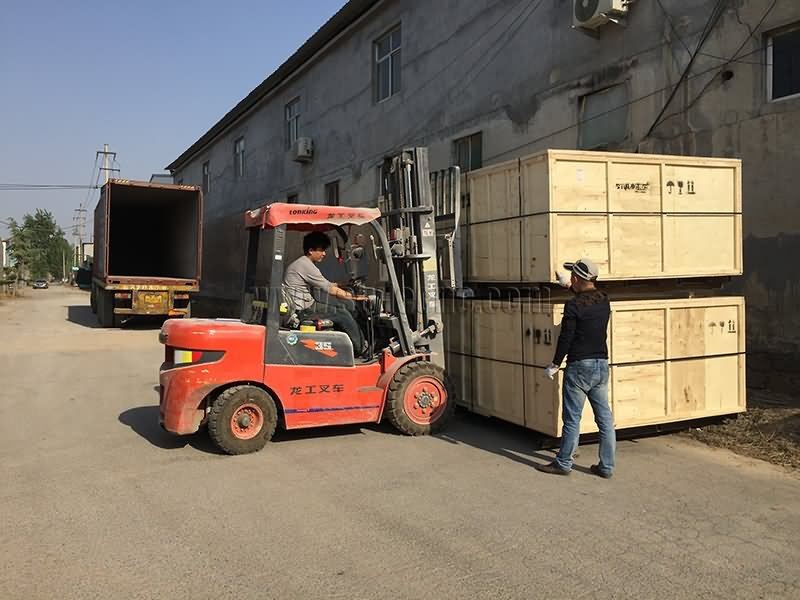 mixed laser cutting machine loading to container