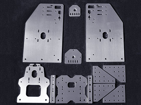 Aluminum cutting samples by 6kw spindle CNC router