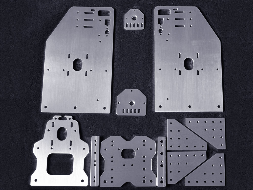 Aluminum CNC cutting sample