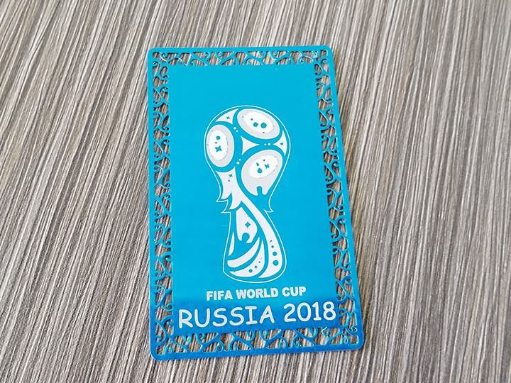 Galvanized aluminum sheet laser engraving machine for 2018 FIFA World Cup logo