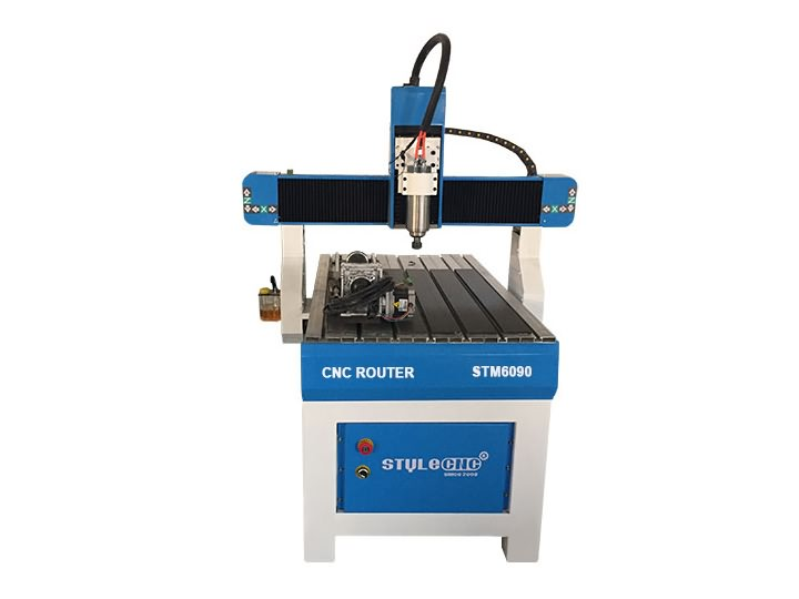 Hobby CNC Router 6090 with 4th rotary axis for aluminum, wood, MDF