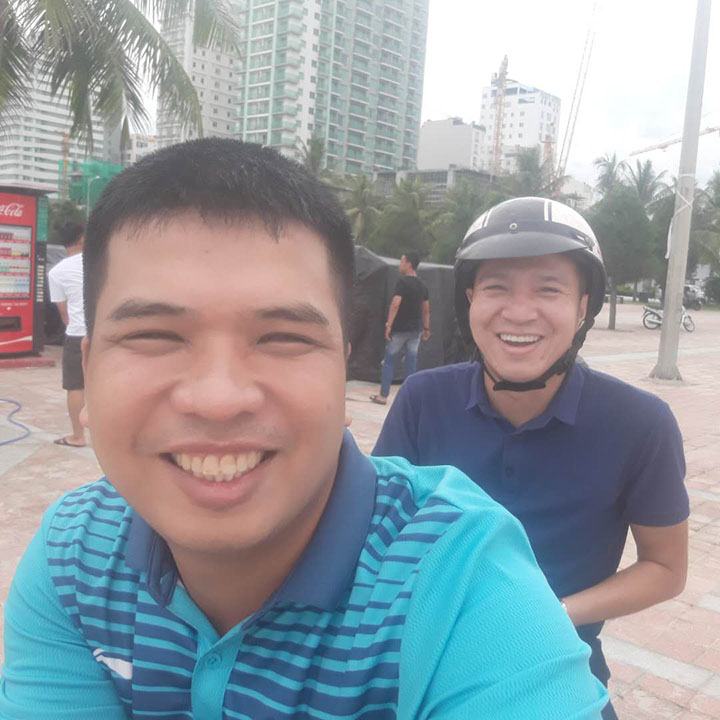 Mr. Thai and Mr. Lee from Vietnam