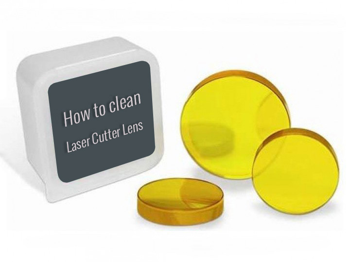 How to clean mirrors and lens of CO2 laser cutter?