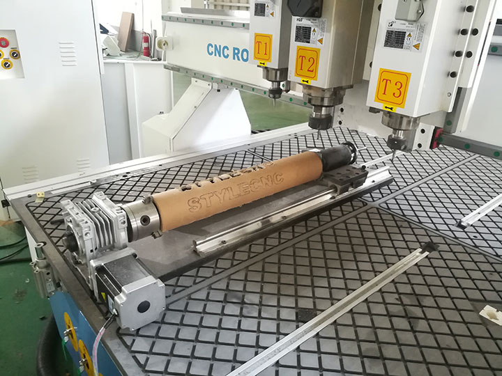 Pneumatic ATC CNC router with lathe