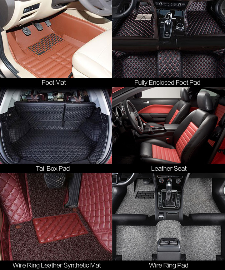 Automotive interior cutting designs