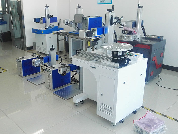 3 sets color laser marking machine are ready for shipping to the United States