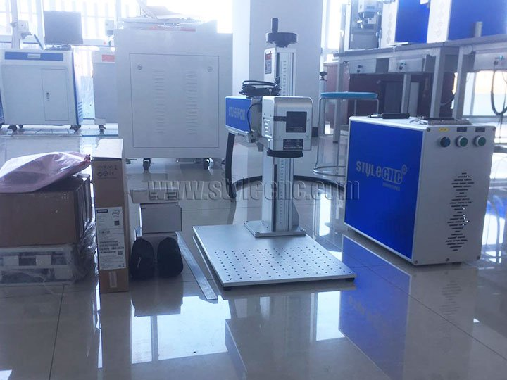 STJ-60FCM color laser marking machine with cyclops camera system