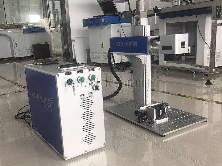 STJ-30FM MOPA fiber laser marking machine with automatic focus system