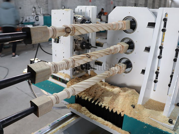 3 Axis Wood Turning Lathe Machine