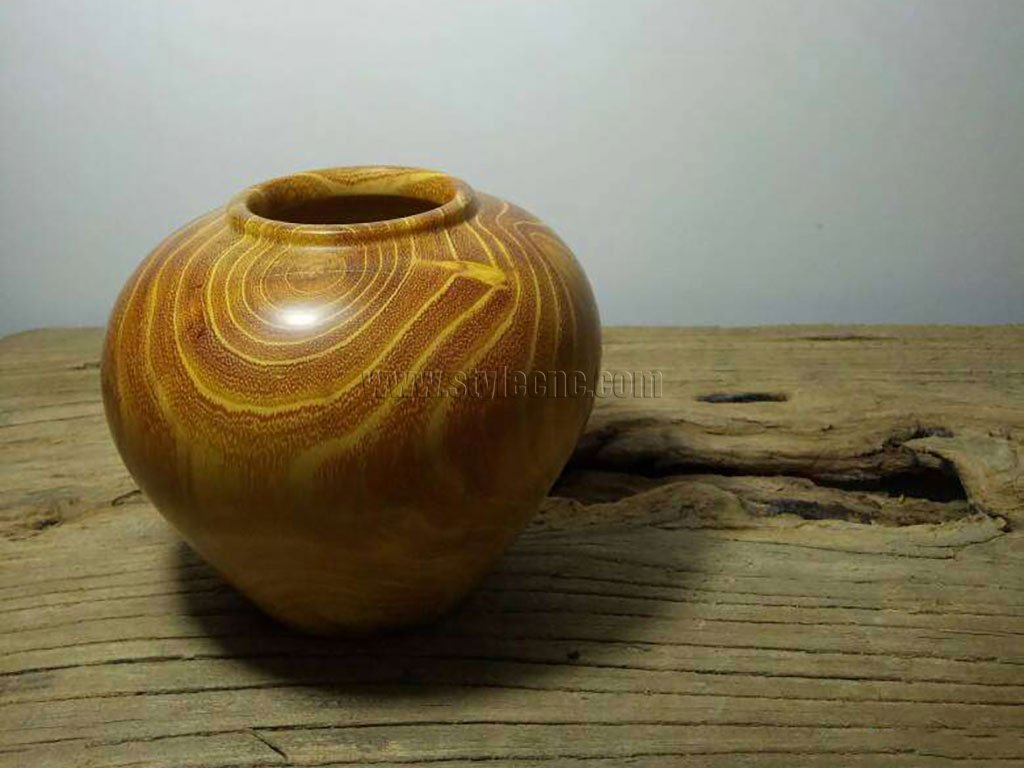 Cudrania Tricuspidata Wooden Canister and Jar Turning Project by CNC Wood Lathe Machine