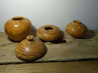 Cudrania Tricuspidata Wooden Canisters and Jars Turning Projects by CNC Wood Lathe Machine