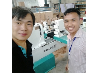 1st CNC wood lathe from China