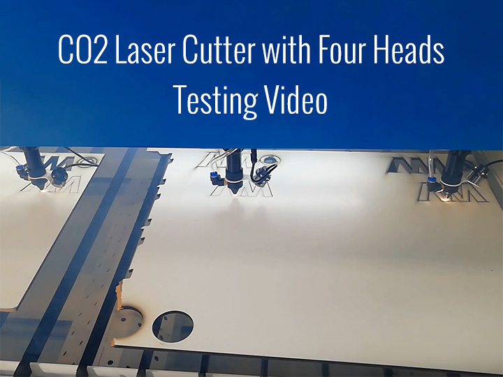 Multi-heads CO2 Laser Cutter for Plywood/MDF/Acrylic/Paper/Wood