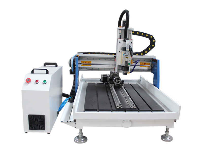 STG6090 Desktop CNC Router for Aluminum with 4th Rotary Axis