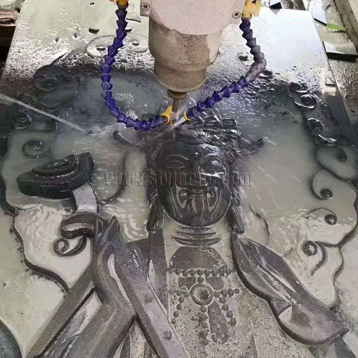 CNC stone carving project