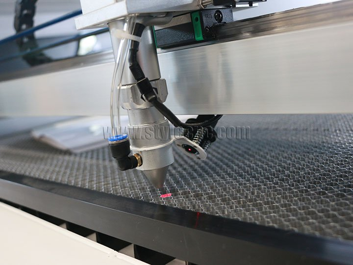 Laser cutting head for EVA foam boat flooring,car floor decking