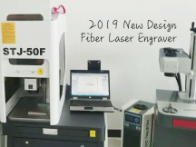 2021 New Design 50W Fiber Laser Engraver for Metal with Enclosures STJ-50F