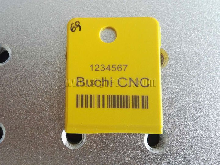 UV laser engraving bar code on ear tags