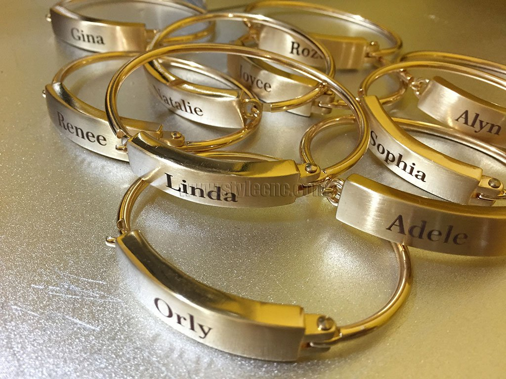 Laser Engraver for Name Bracelets of Brass