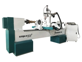 Double Axis Automatic CNC Wood Lathe for Baseball Bats - CNC