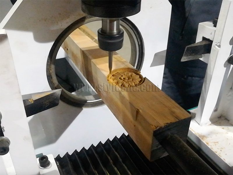 4 Axis CNC Wood Lathe for Wood Carving Project