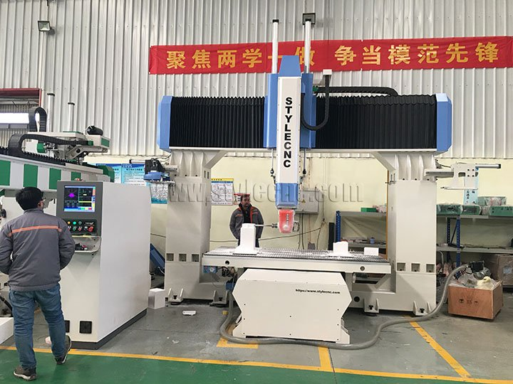 5 Axis CNC Router Machine for US Clients