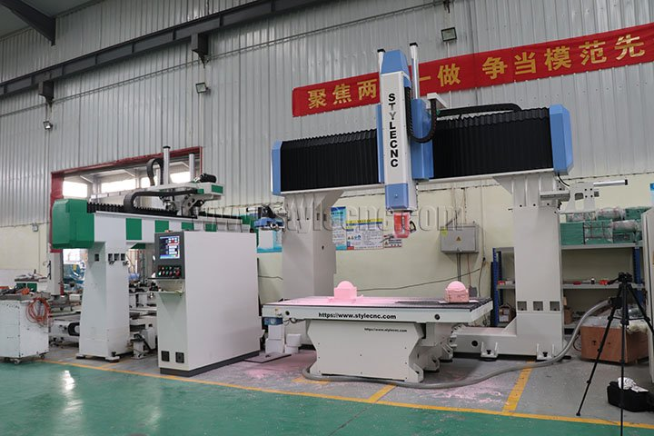 5 Axis CNC Router Machine for 3D Mold Making