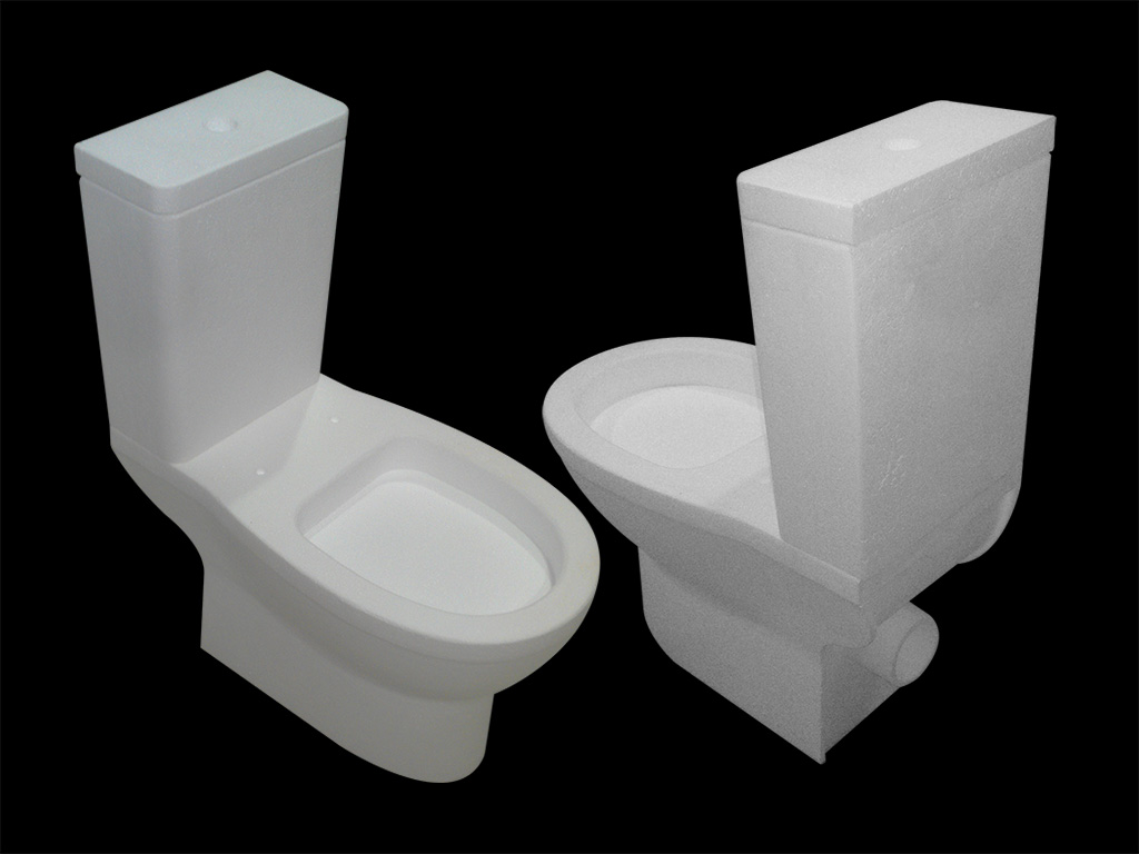 5 Axis CNC Machining for 3D EPS Solid Model of Toilet Prototype