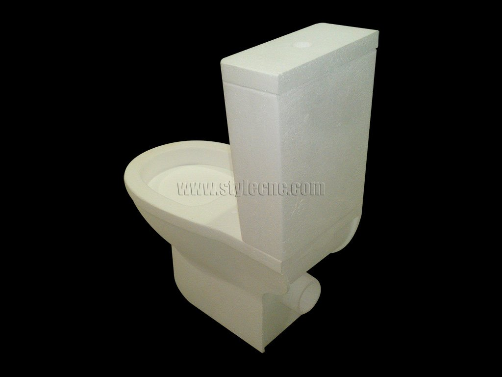 5 Axis CNC Machine for 3D EPS Solid Model of Toilet Prototype