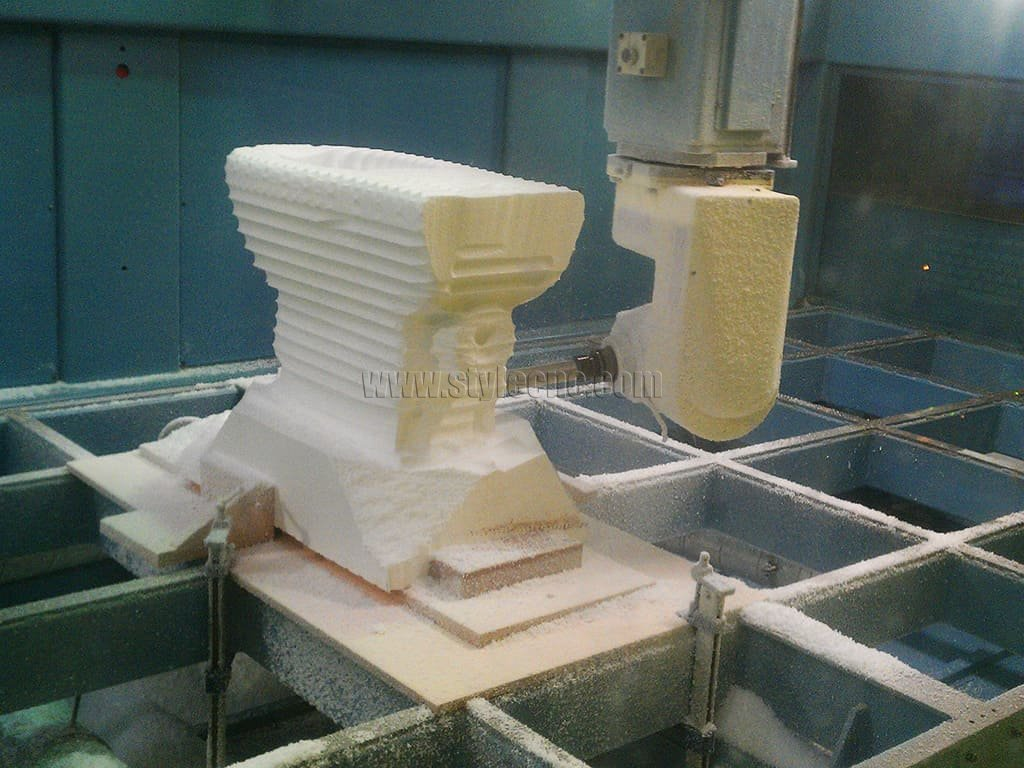 5 Axis CNC Machining for 3D Toilet Prototype