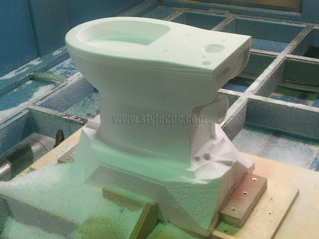 5 Axis CNC Machine for 3D Toilet Prototype
