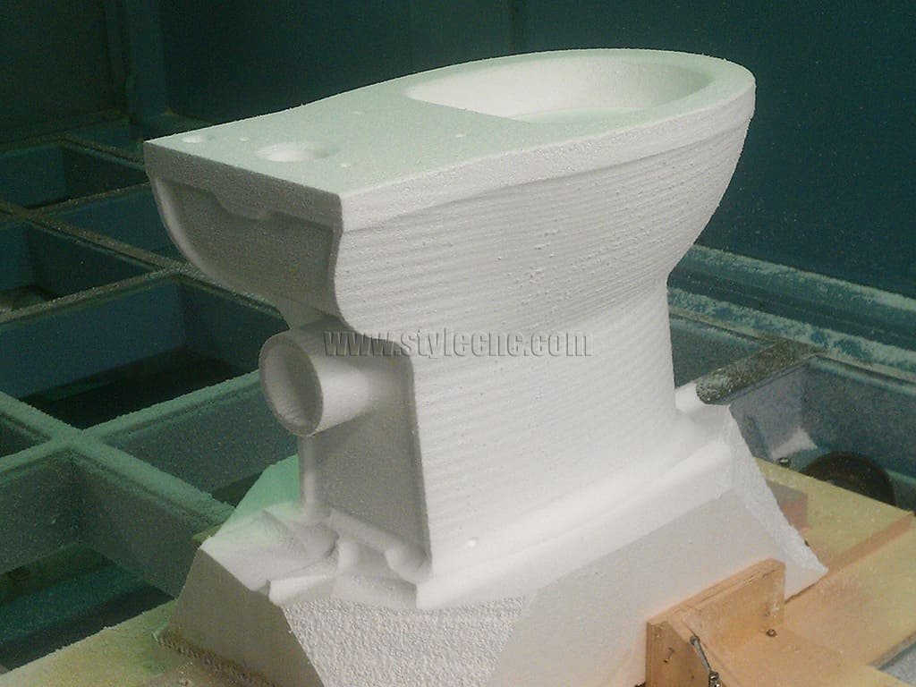 5 Axis CNC Machining for 3D EPS Model of Toilet Prototype