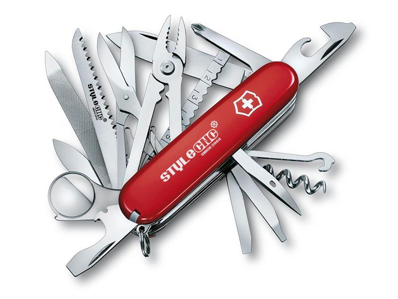 Fiber laser engraved Swiss army knife