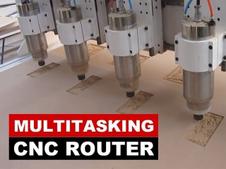 Multitasking CNC Machine for 3D Wood Relief Carving