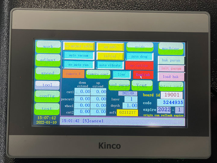 The Third Picture of CNC Tangential Oscillating Knife Cutting Machine