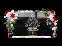 Laser Engraving Cutting 3D Acrylic Christmas Tree - DIY Christmas Ornaments