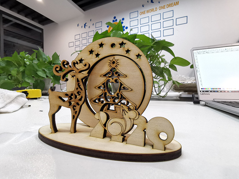 Laser Cutting 3D Wood Christmas Ornaments