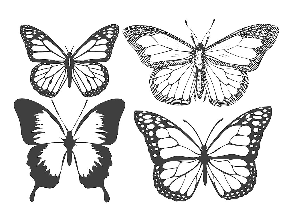 Free Laser Engraving Vintage Butterfly Files