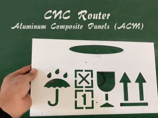 CNC Router Cutting Aluminum Composite Panels (ACM Panels)