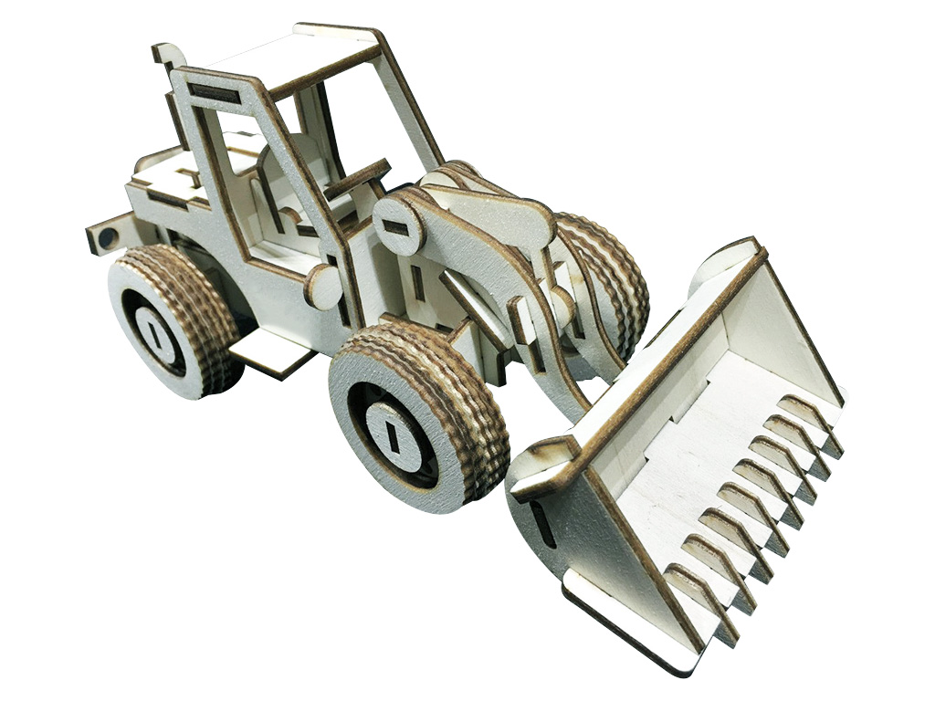 Free 3D Laser Cut Wood Bulldozer Model Projects and Ideas